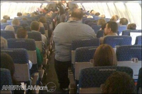 Fat guy on plane